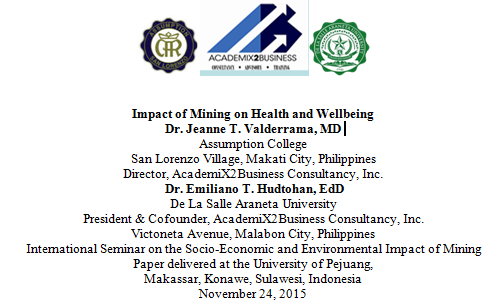 Impact of Mining on Health and Wellbeing AcademiX2Business